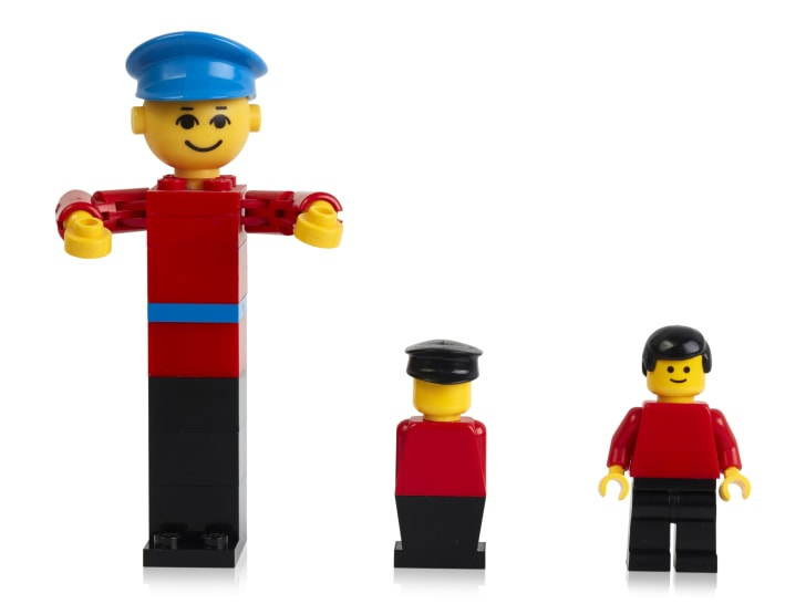 Three LEGO figures