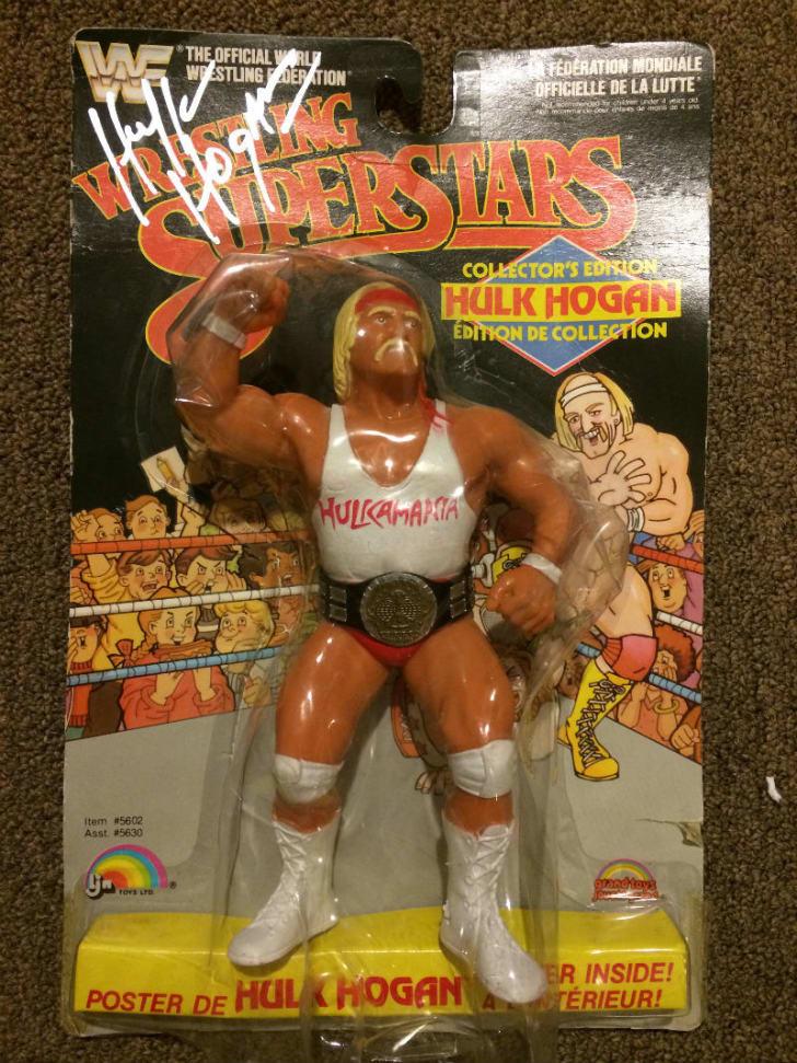 A photo of a Hulk Hogan LJN wrestling action figure