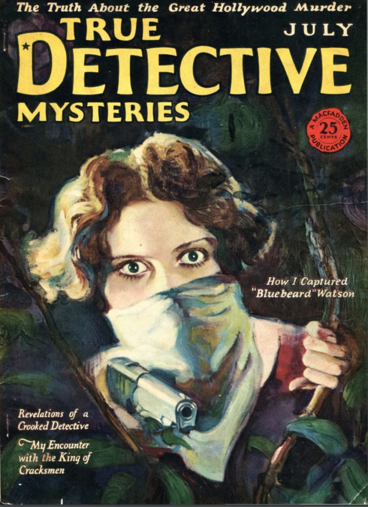 "The cover of ""True Detective Mysteries,"" July 1926"