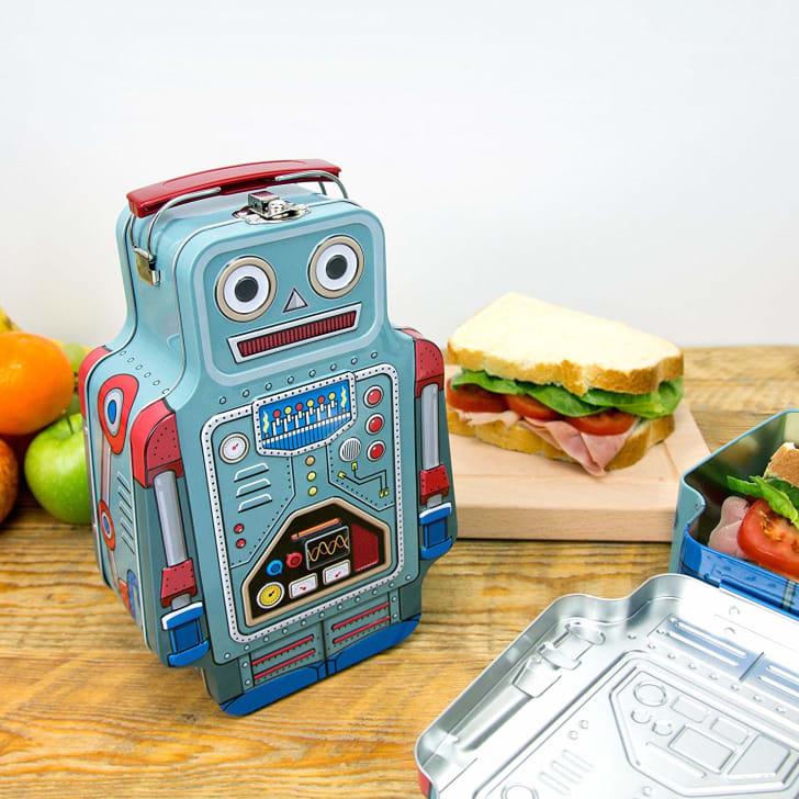 Robot Tin Lunch Box