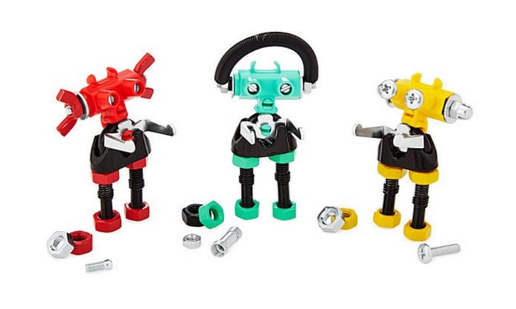 Three robot figurines