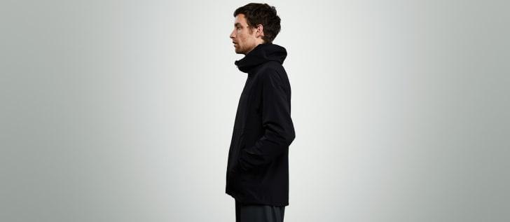 Man wearing jacket.