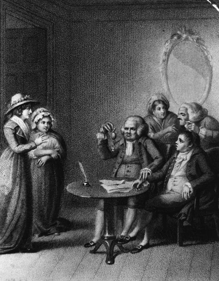 A medical consultation, circa 1807.