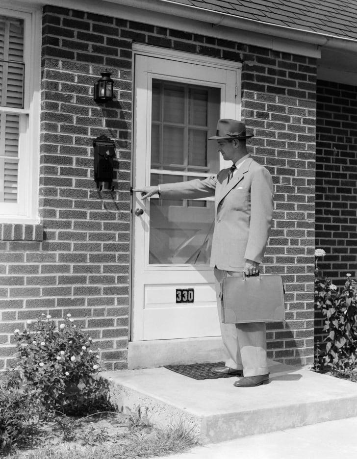 Door-to-door salesman in 1951.