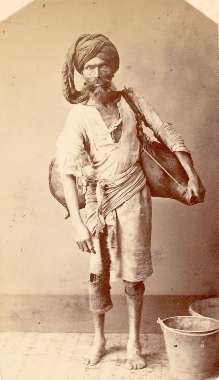 An Indian water carrier or