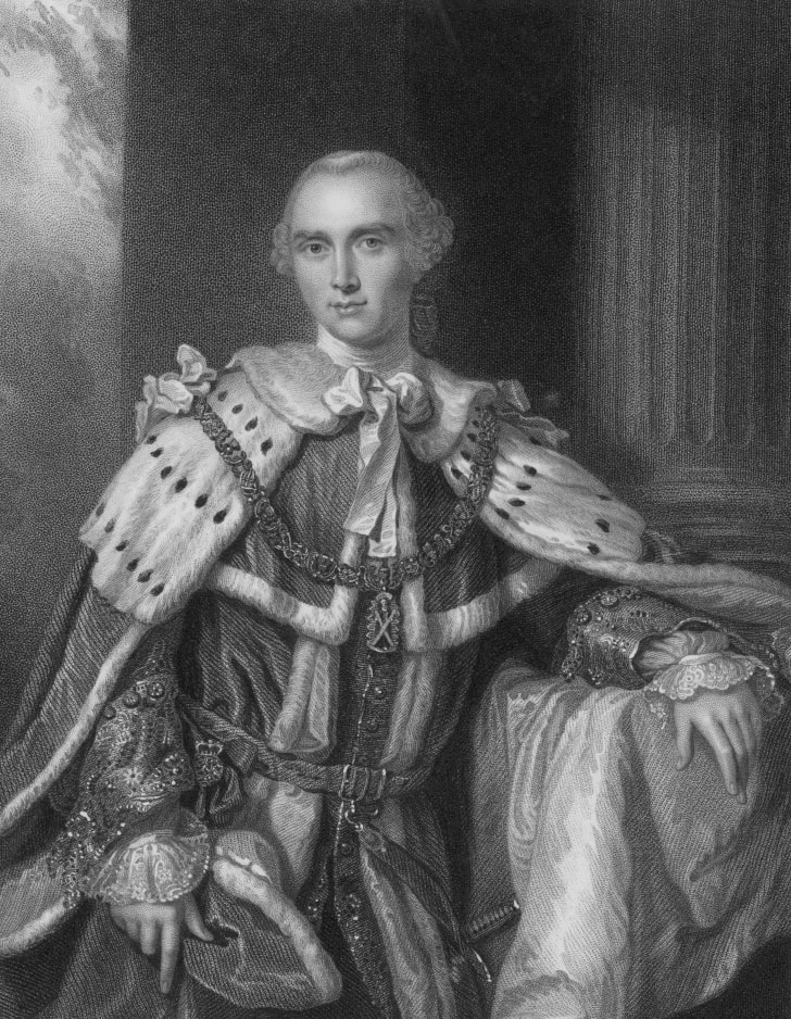 John Stuart, 3rd Earl of Bute (1713-1792) and British Prime Minister (1762-1763), served as one of Prince Frederick's lords of the bedchamber and became a privy councillor and groom of the stole for George III.