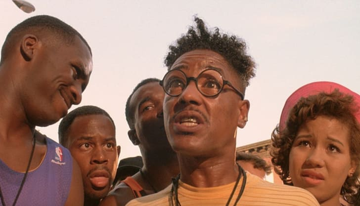 Martin Lawrence, Giancarlo Esposito, and Steve White in Do the Right Thing (1989)