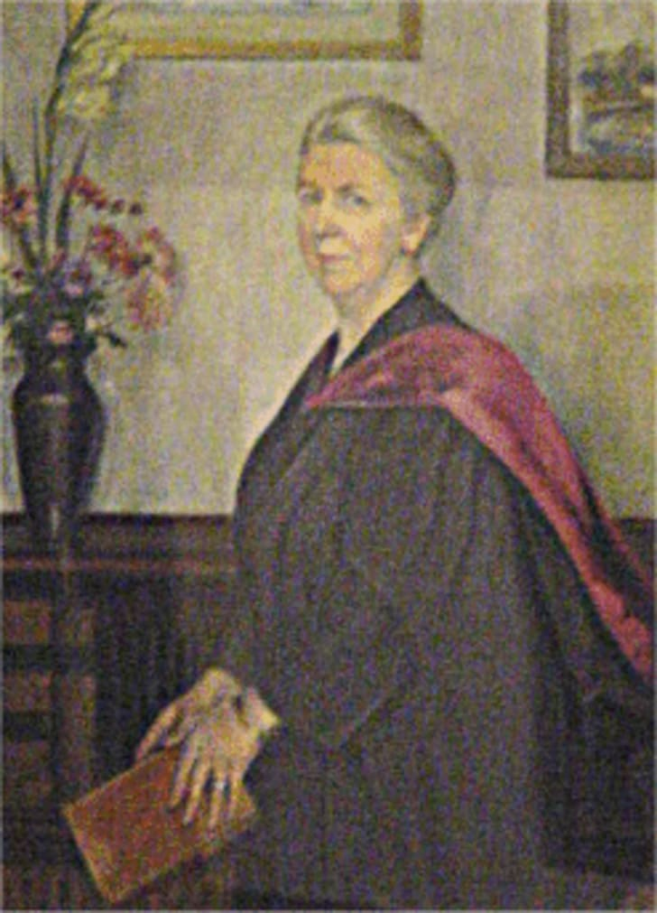 A photograph of Eleanor Jourdain