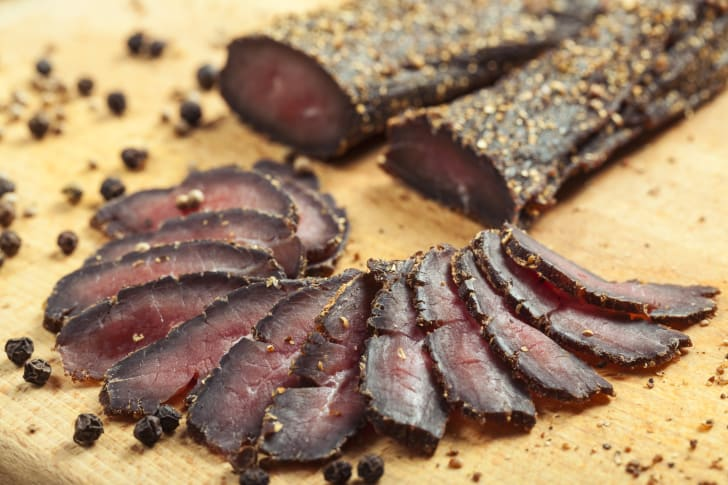 image of slices of South African biltong