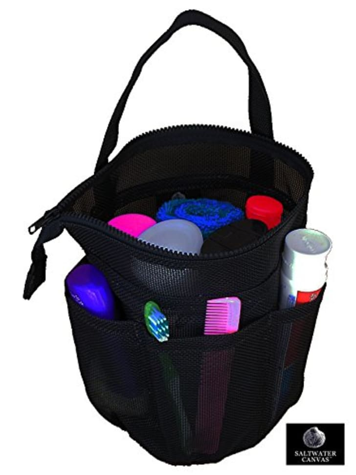 Saltwater Canvas, LLC Zip Top Mesh Shower Bag