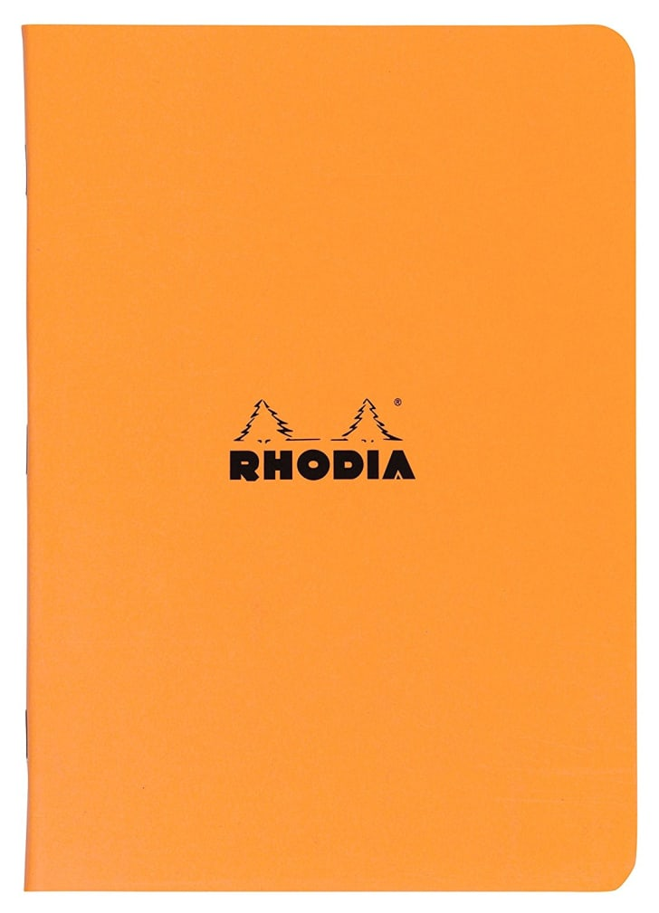 Rhodia Staplebound Orange Lined Notebook