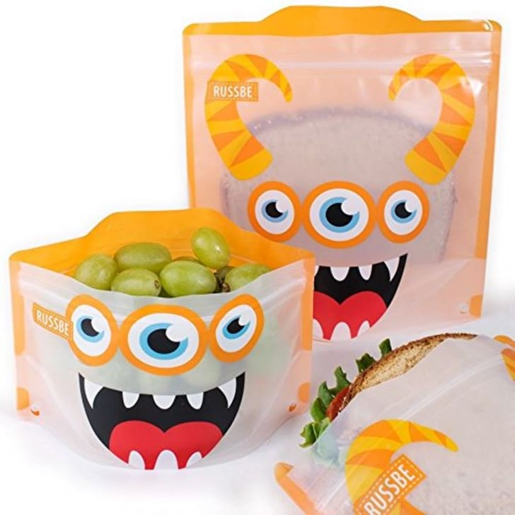 Orange Monster Reusable Sandwich Lunch Bags