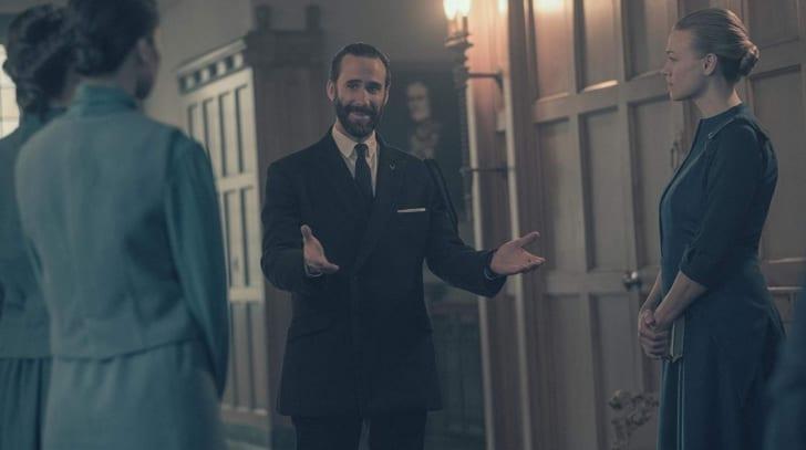 Joseph Fiennes and Yvonne Strahovski in 'The Handmaid's Tale'