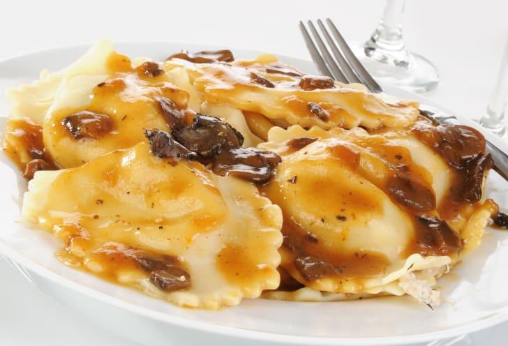 image of a mushroom ravioli