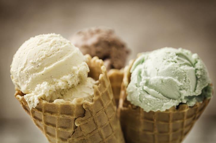 image of three ice cream cones
