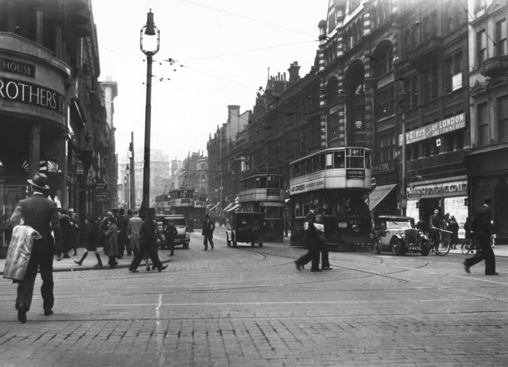 A Liverpool street in the early 1930s
