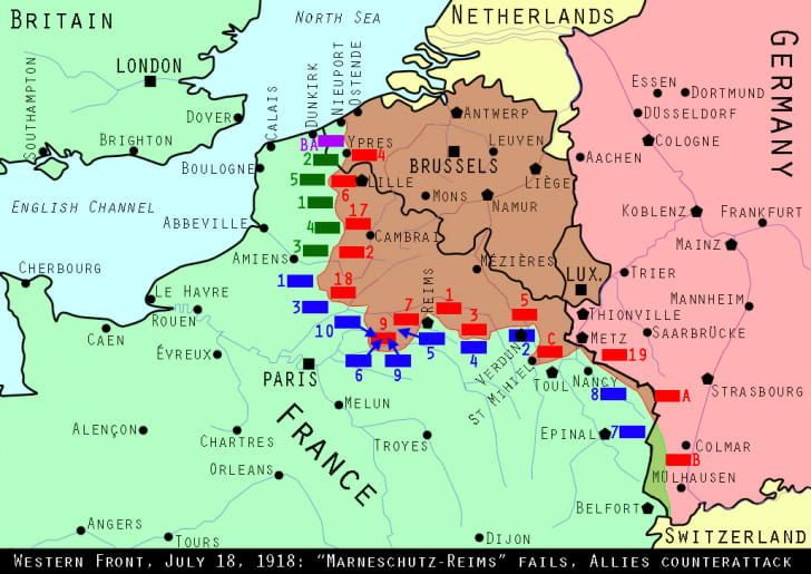 Western Front, July 18, 1918