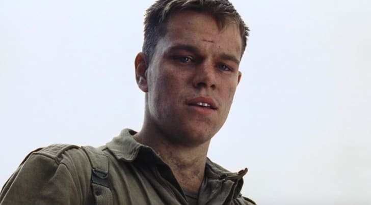 Matt Damon stars in 'Saving Private Ryan' (1998)