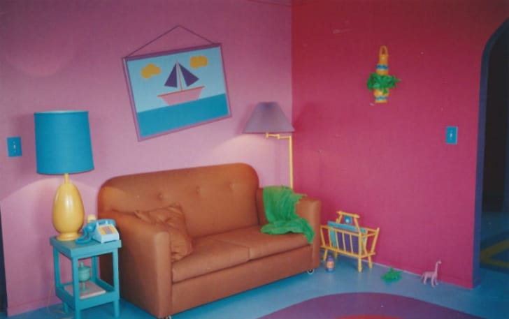 A look at the Simpsons' house living room
