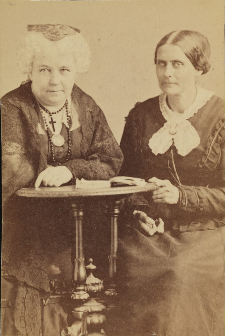 A photo of Elizabeth Cady Stanton and Susan B. Anthony