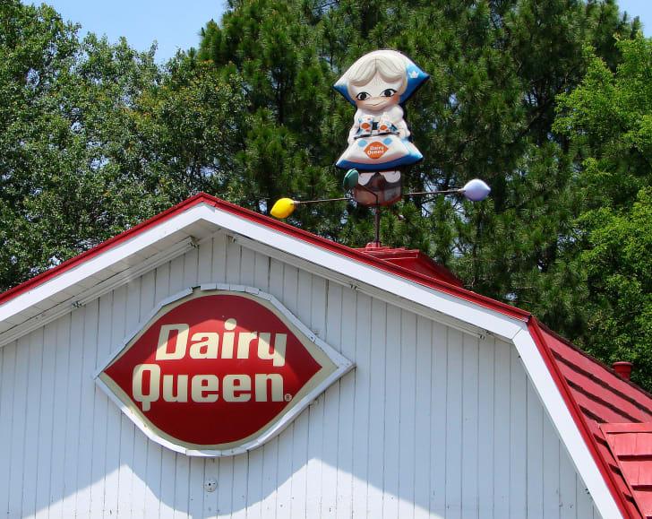 image of Little Miss Dairy Queen weather vane