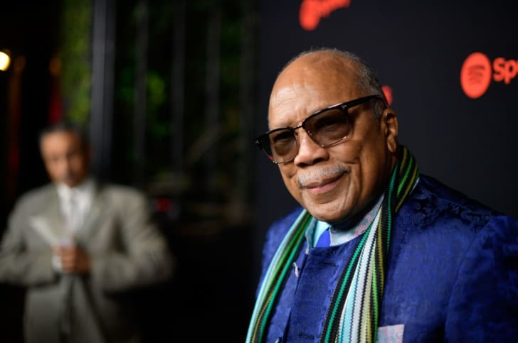 Music producer Quincy Jones attends Spotify's Inaugural Secret Genius Awards hosted by Lizzo at Vibiana on November 1, 2017 in Los Angeles, California