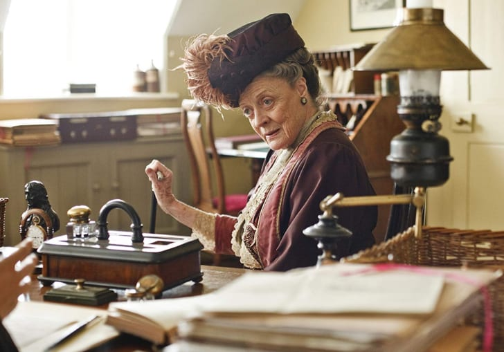 Maggie Smith as Violet Crawley, Dowager Countess of Downton, in 'Downton Abbey'