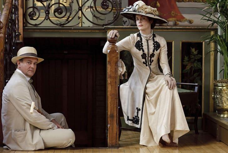 Elizabeth McGovern and Hugh Bonneville in 'Downton Abbey'