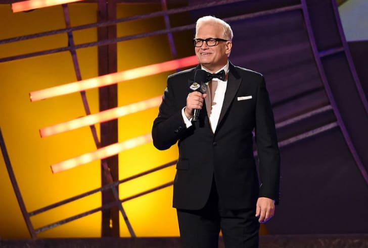 Drew Carey is photographed while on stage