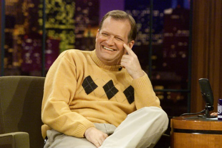 Drew Carey is photographed during a 'Tonight Show' appearance