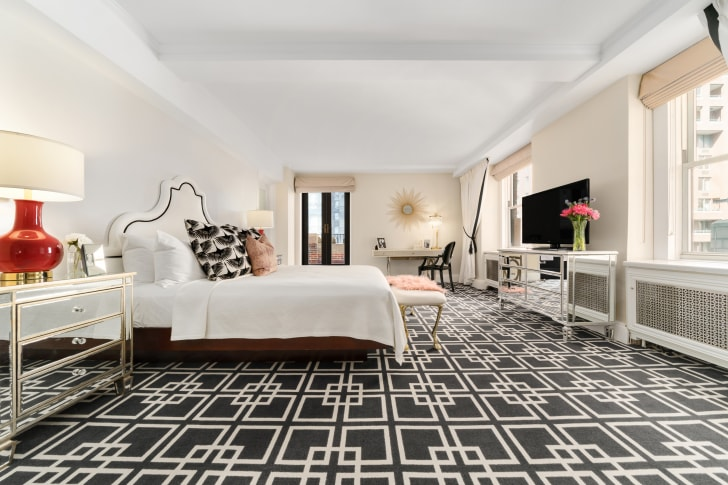 The hotel's bedroom