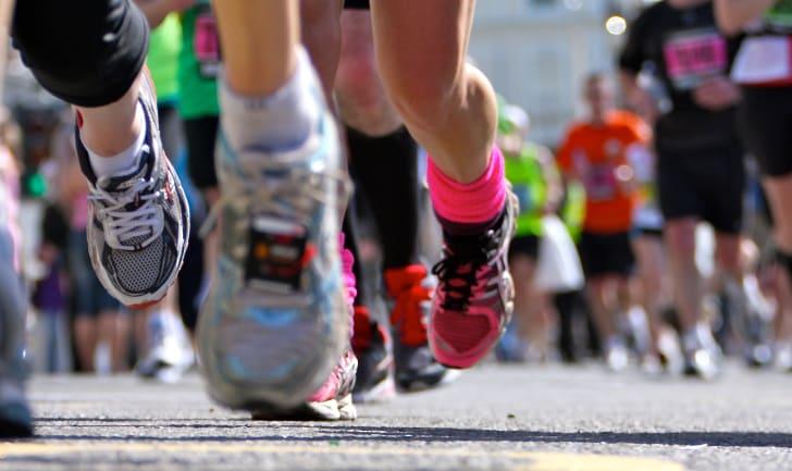 Image of people running
