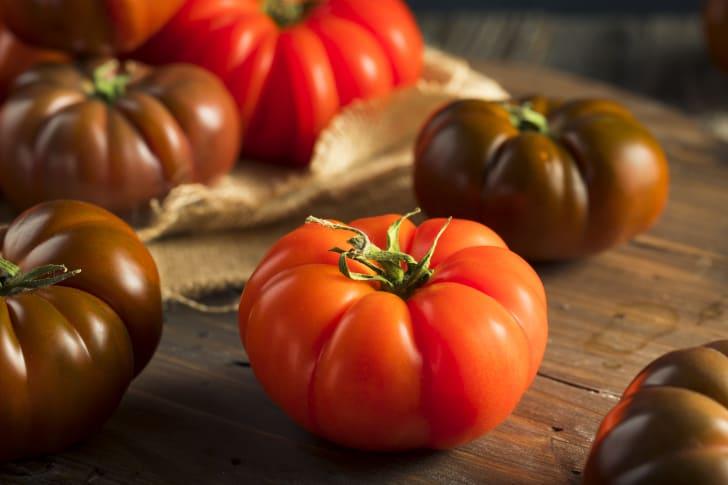 Image of heirloom tomatoes
