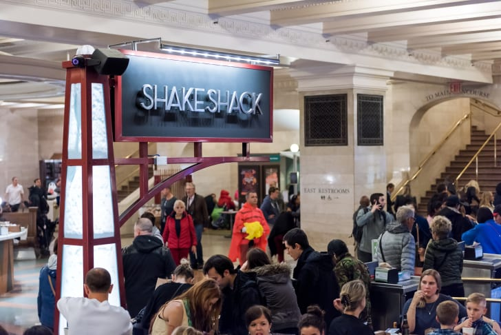 Shake Shack location at Grand Central Station in New York City