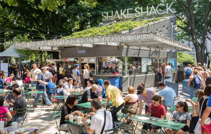 Image of the original Shake Shack location in Madison Square Park