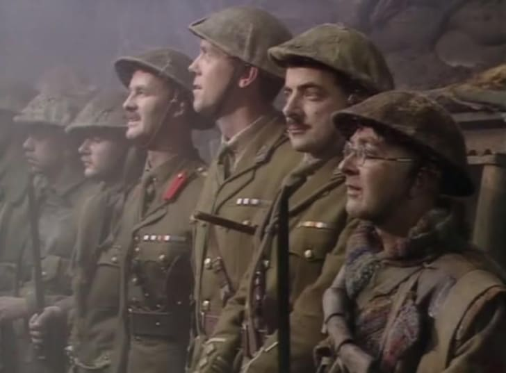 A scene from 'Blackadder Goes Forth'