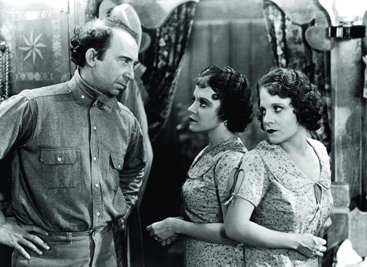 Roscoe Ates, Daisy Hilton, and Violet Hilton in 'Freaks' (1932)