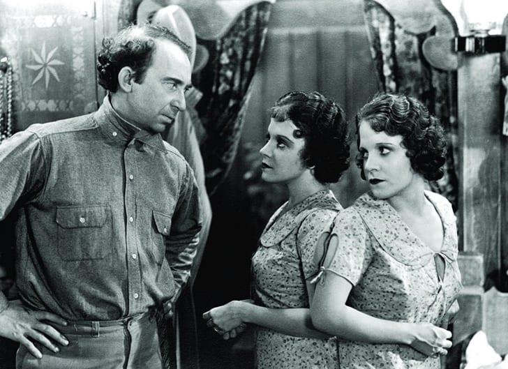 Roscoe Ates, Daisy Hilton, and Violet Hilton in 'Freaks' (1932)