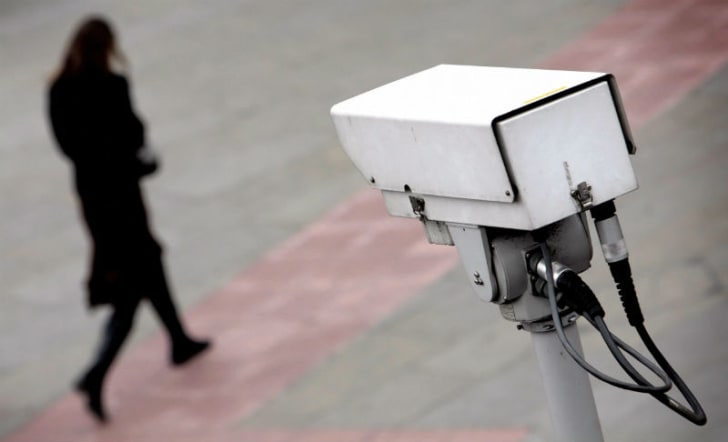 A surveillance camera is posted in London