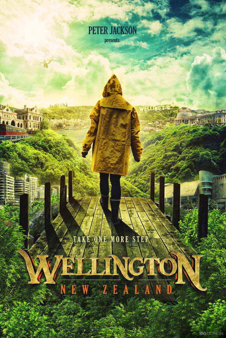 A poster of Wellington, New Zealand