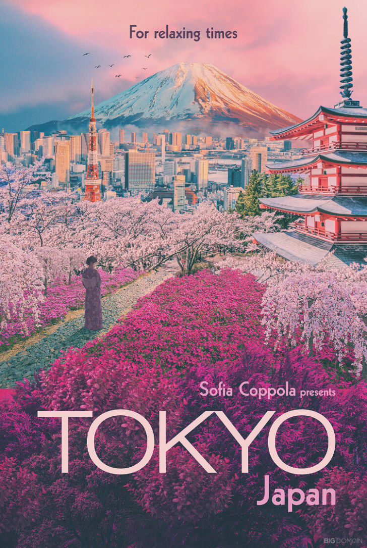 A poster of Tokyo