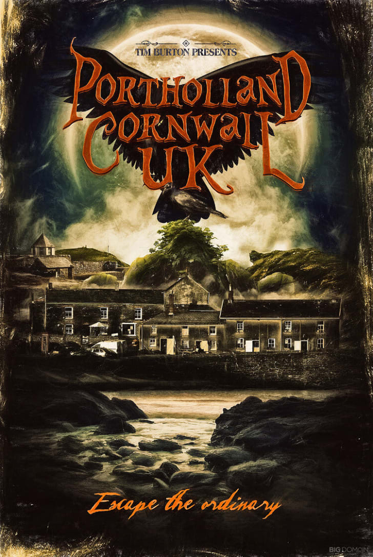 A poster of Cornwall, UK