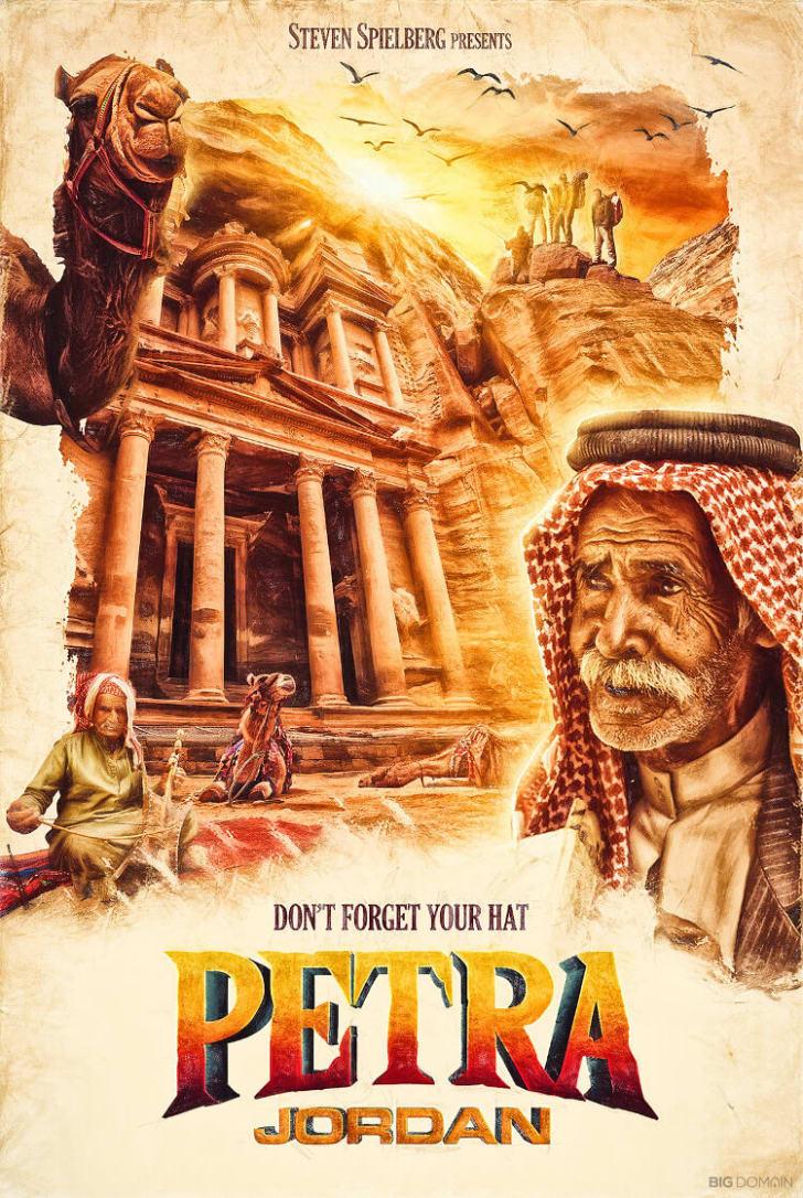 A poster of Petra, Jordan