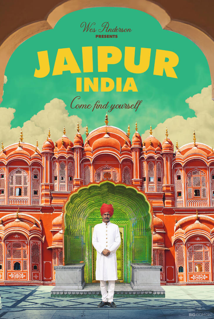 A poster of Jaipur, India