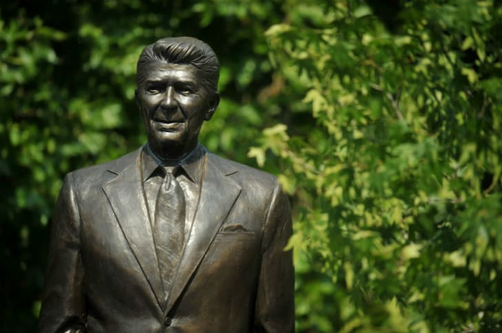 A statue erected in Ronald Reagan's honor