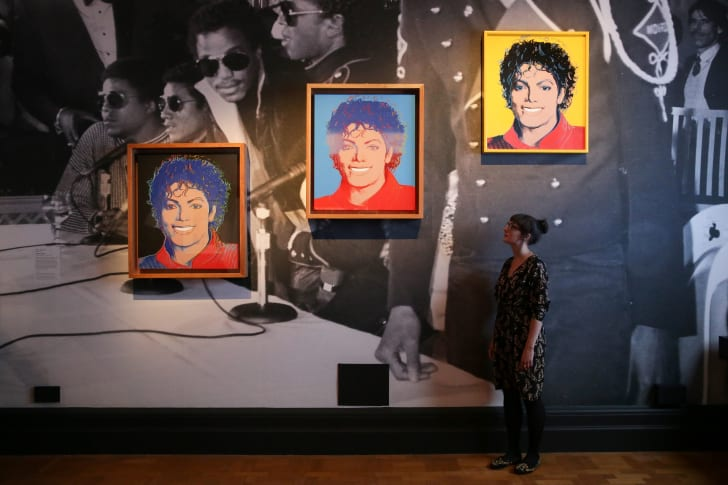 Three paintings of Michael Jackson by Andy Warhol