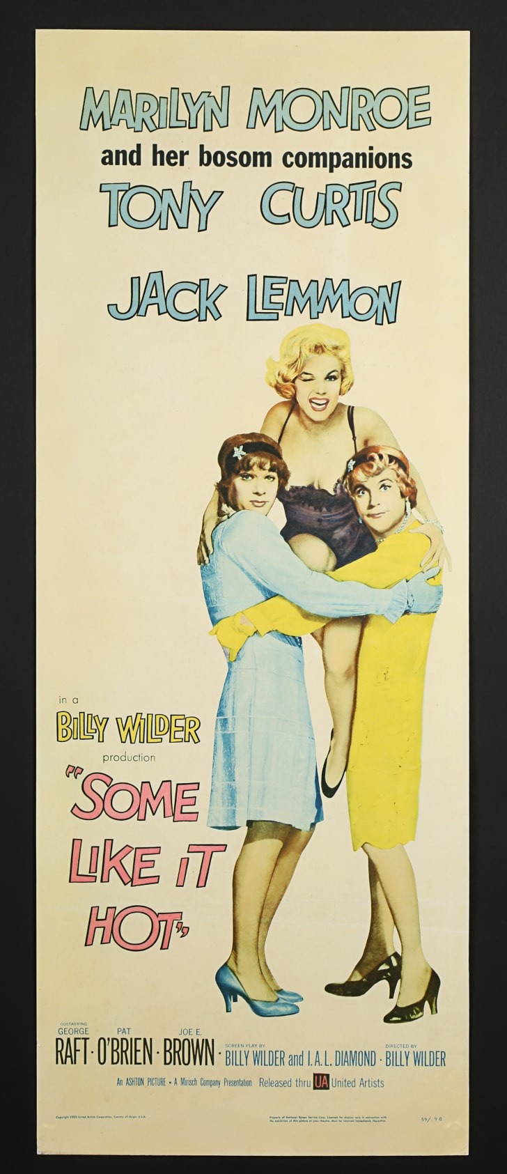 A poster of the film Some Like It Hot