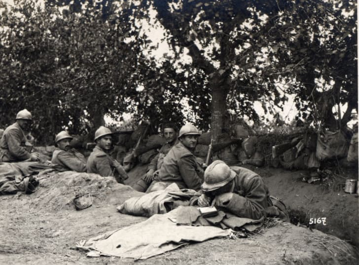 Italian frontline, WWI, June 1918