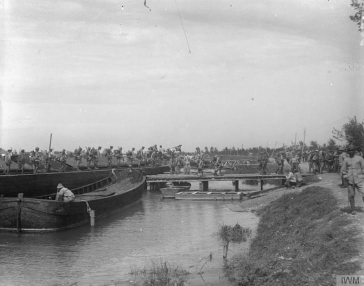 Italian marines, WWI, June 1918