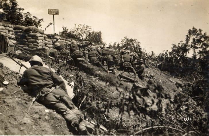 Italian position, WWI, June 1918